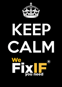 KEEP CALM WE FIXIF its Emergency