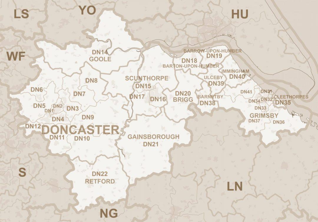 DN_postcode_area_map