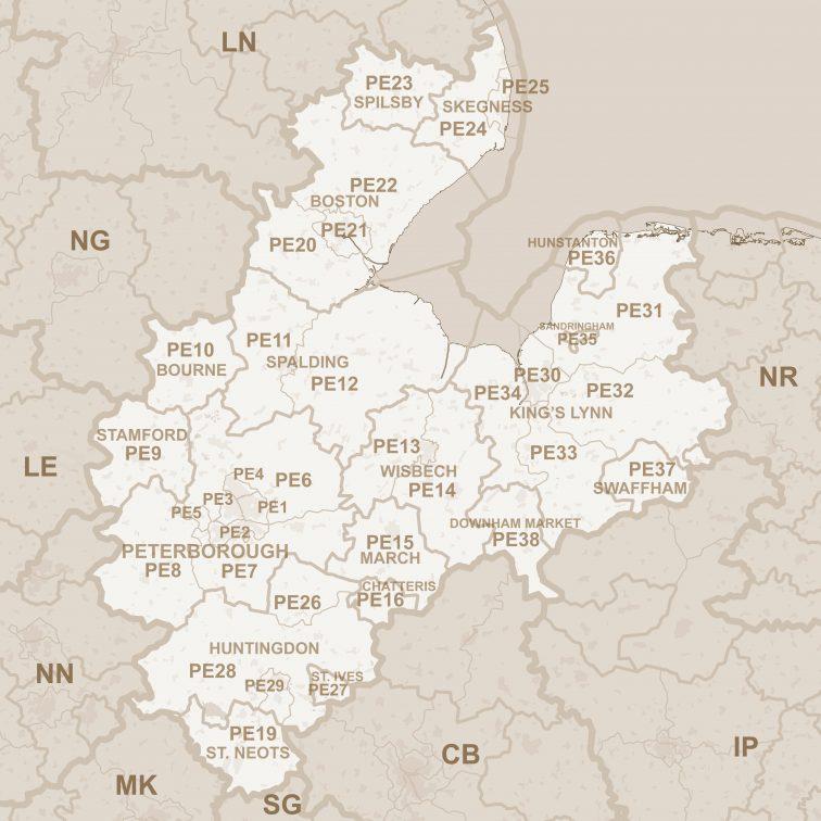 PE_postcode_area_map